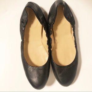 J. Crew Black Leather Ballet Flats